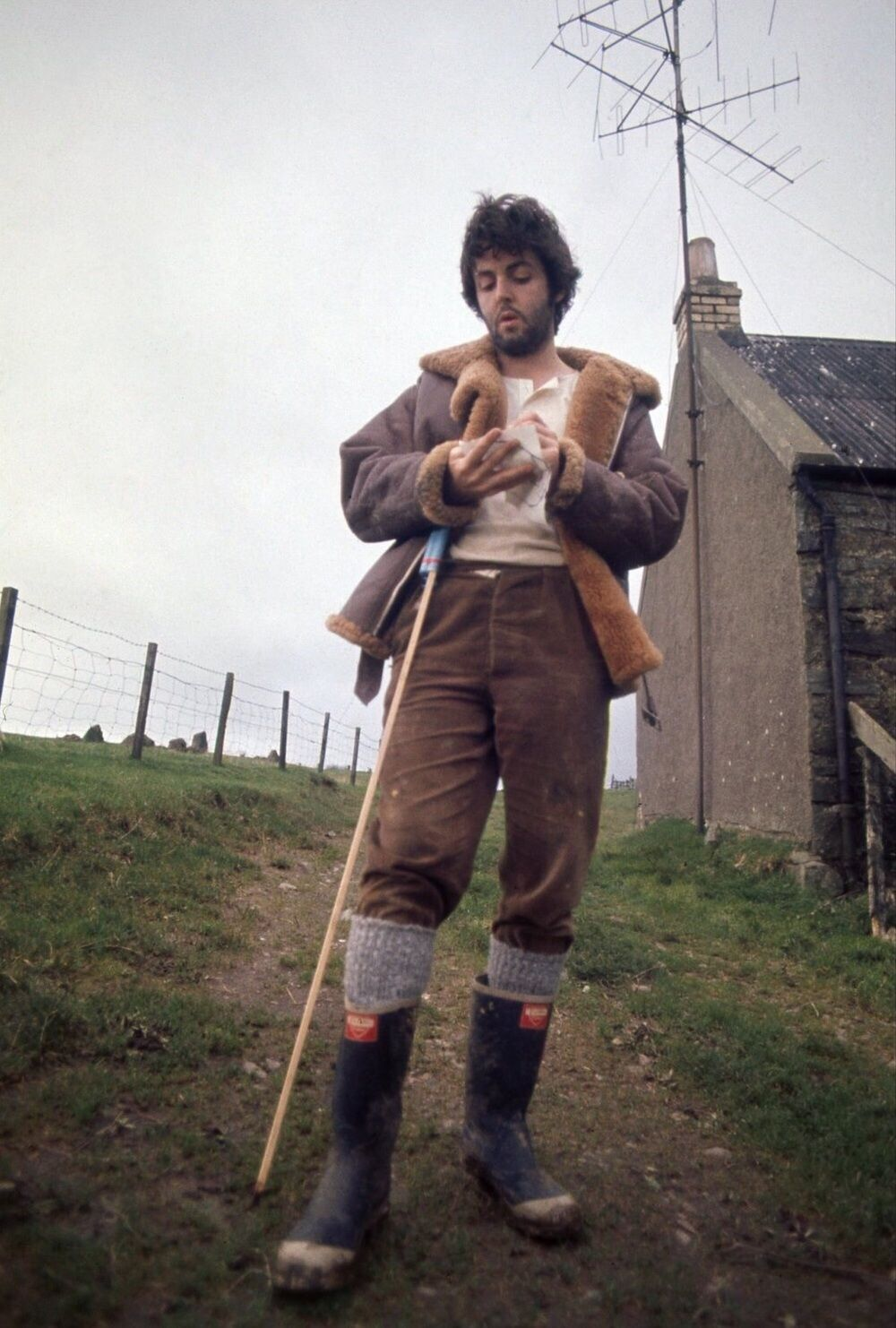 Paul McCartney At High Park Farm Circa 1969