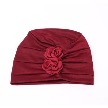 4f8e91a68bd Outgeek - Turban Hat Stylish Flowers Chemo Beanie Turban Headwear Chemo Cap  Head Cover Wrap for Women - Walmart.com
