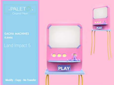 Second Life Marketplace Gacha Machines Kawai 3d Model Character Machine How To Buy Land