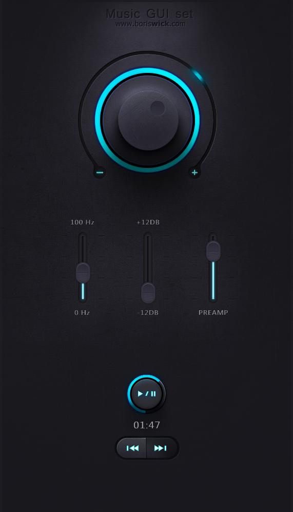 Music GUI set by BorisWick on DeviantArt