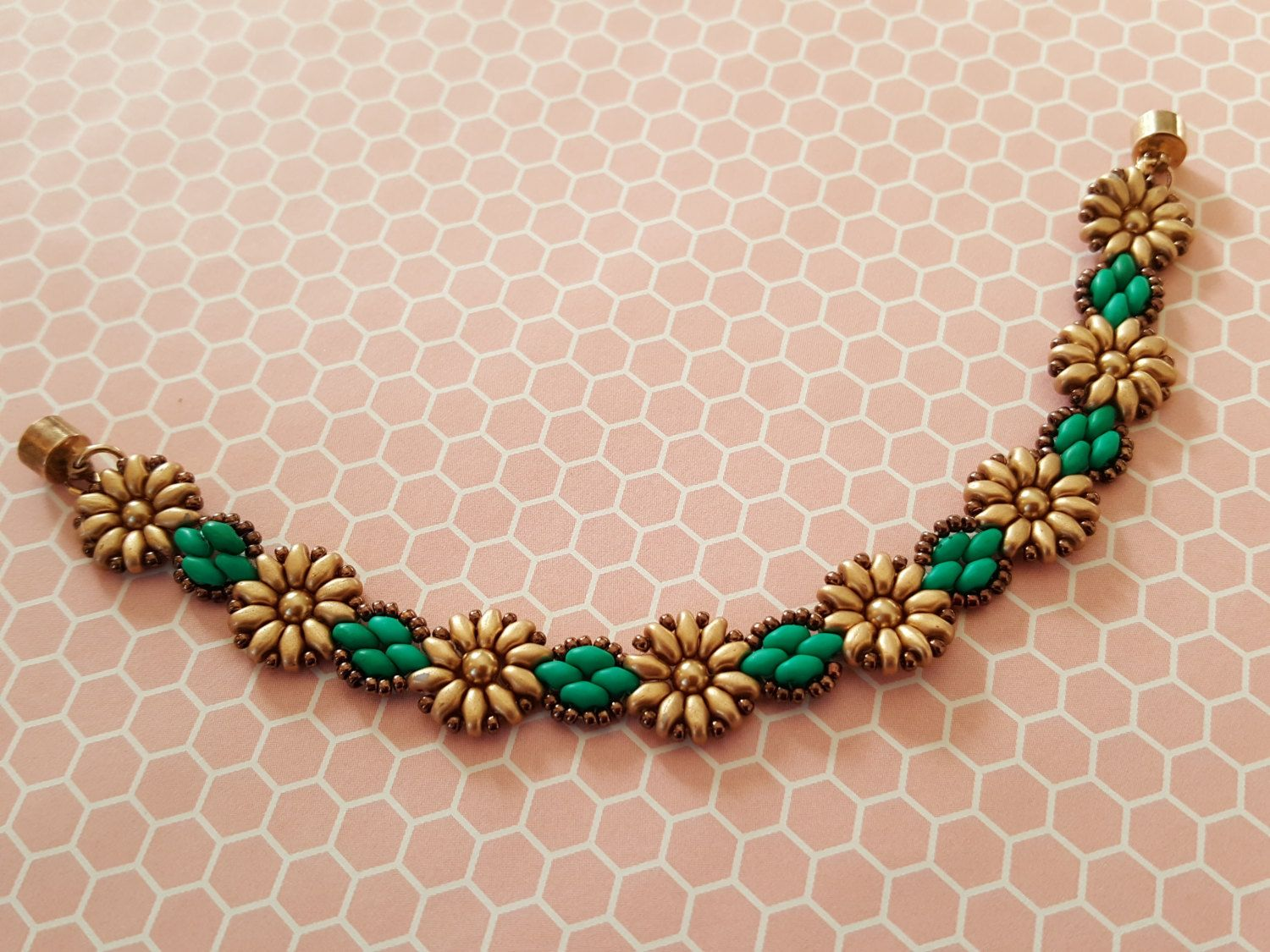 Tutorial Pattern For Beaded Sunflowers Daisy Chain ...