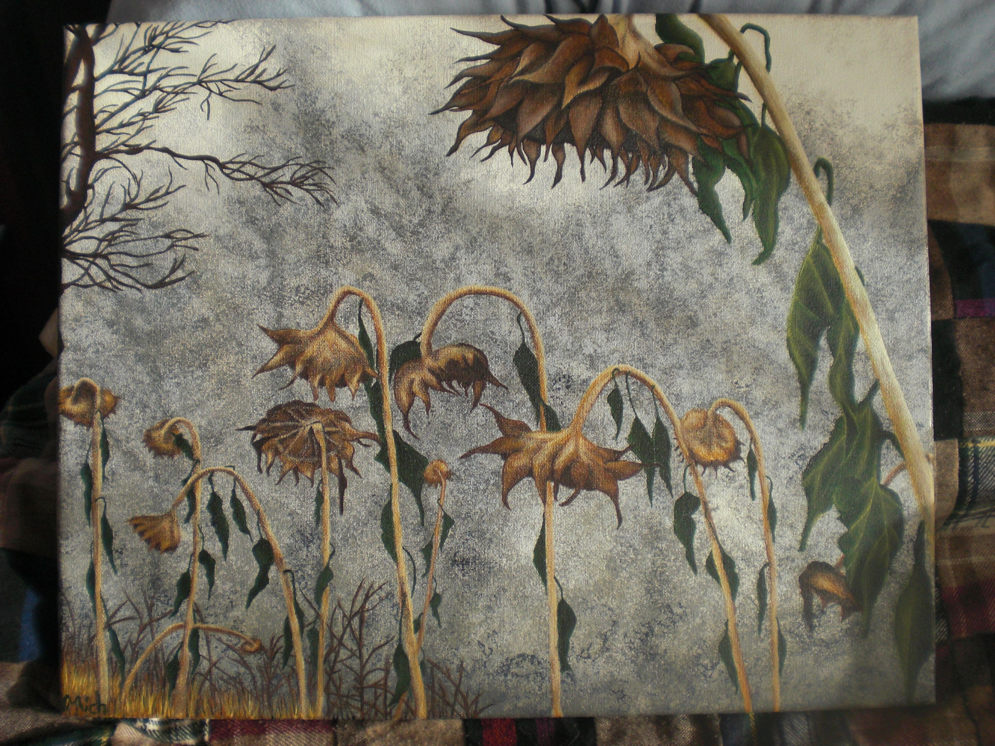 Dead Flowers Painting