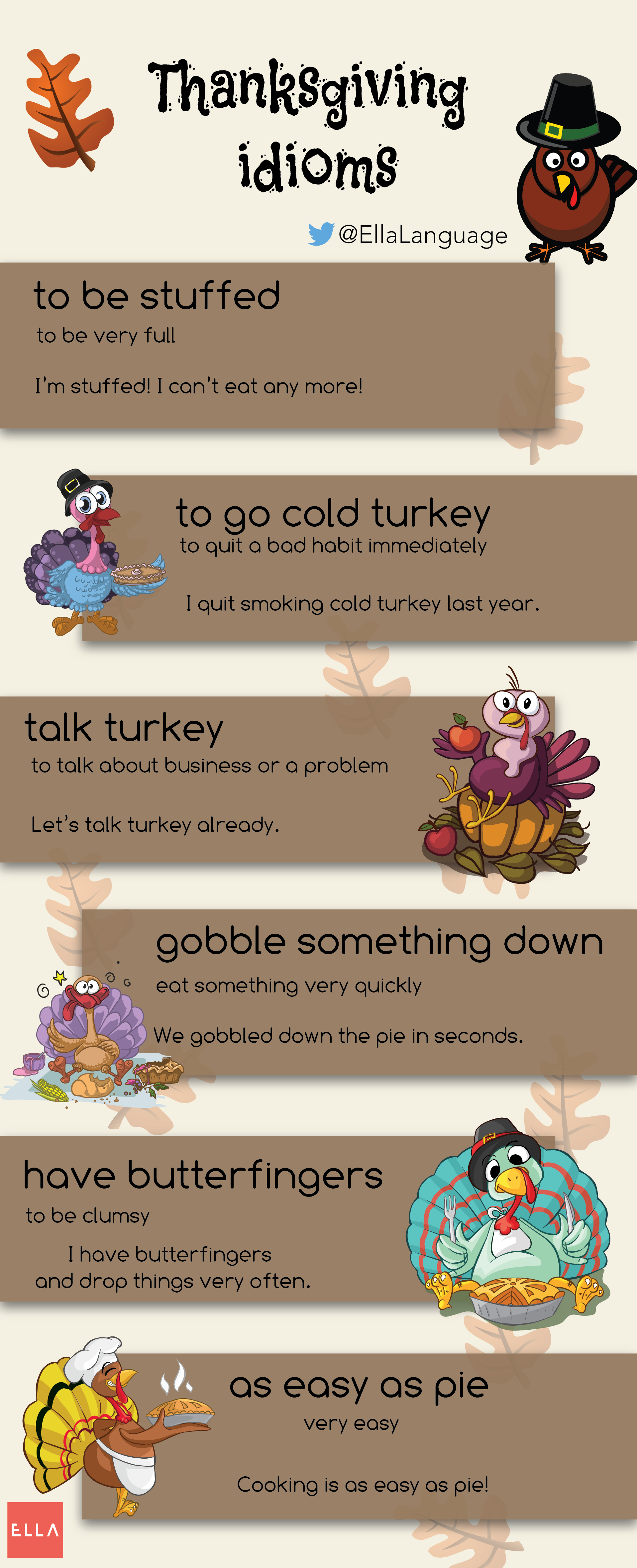 Thanksgiving Idioms Infographic