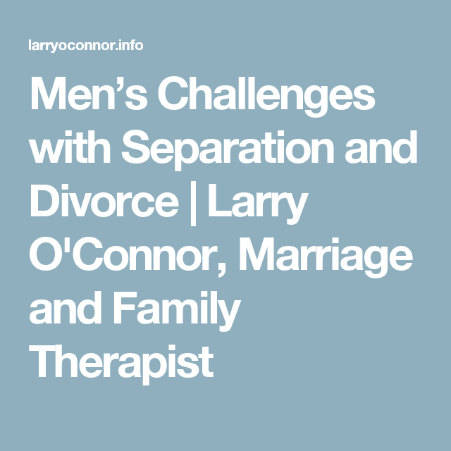 divorce therapy for men