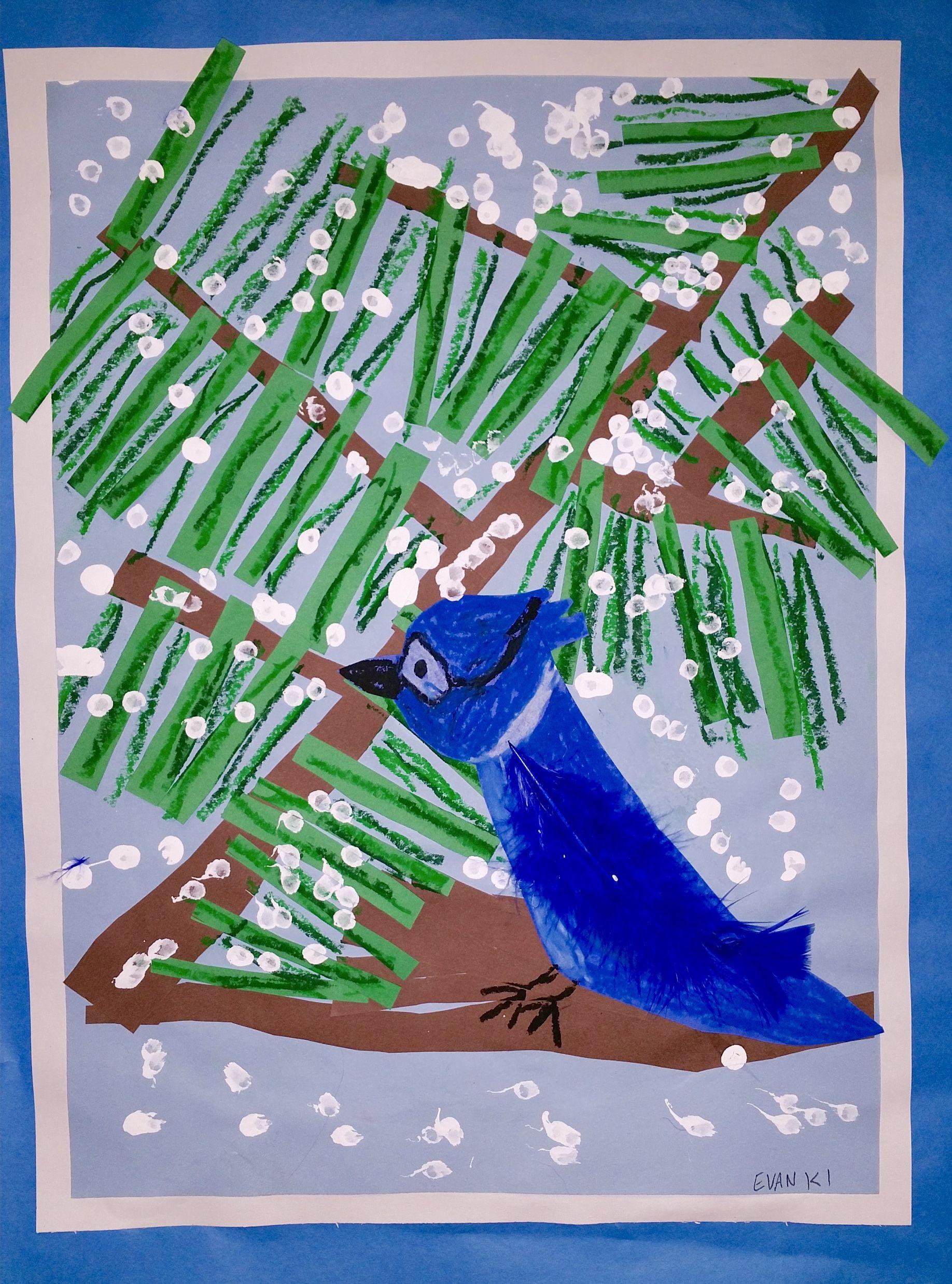 Paintbrush Rocket | 1st Grade – Winter Birds