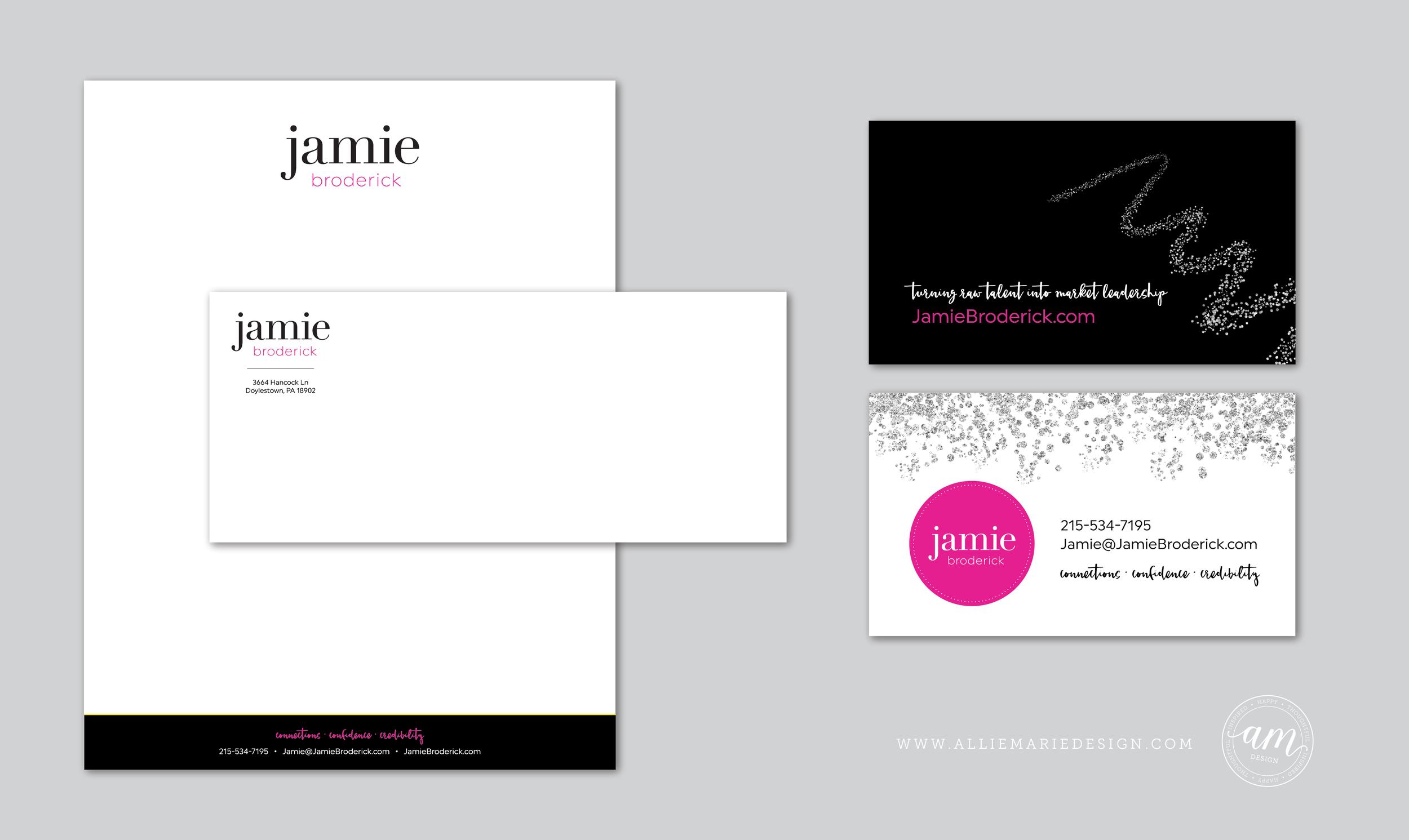 Jamie Broderick Brand Styling by AllieMarie Design | Letterhead ...