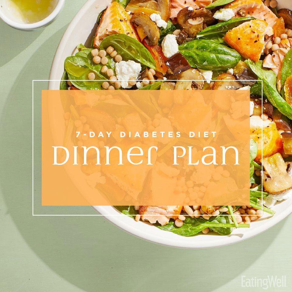 7Day Diabetes Diet Dinner Plan Healthy, Dinner