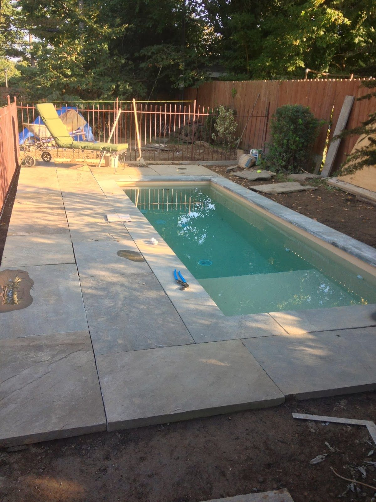our first year in the new house kept us busy building the stone
