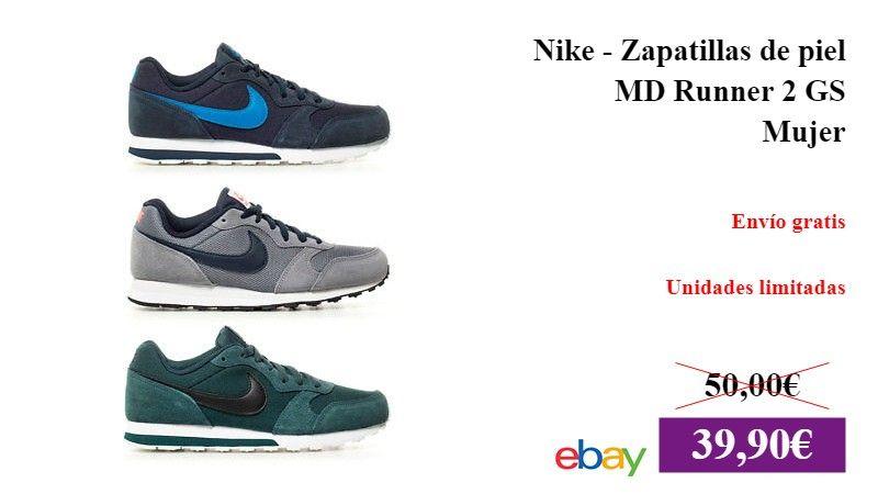 Nike Runner Zapatillas de piel MD Runner Nike 2 GS Mujer DeporteYAireLibre 07bcfa