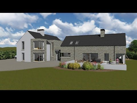 Mod080 Extended With Interior Youtube Irish House Plans House Designs Ireland Modern Bungalow House