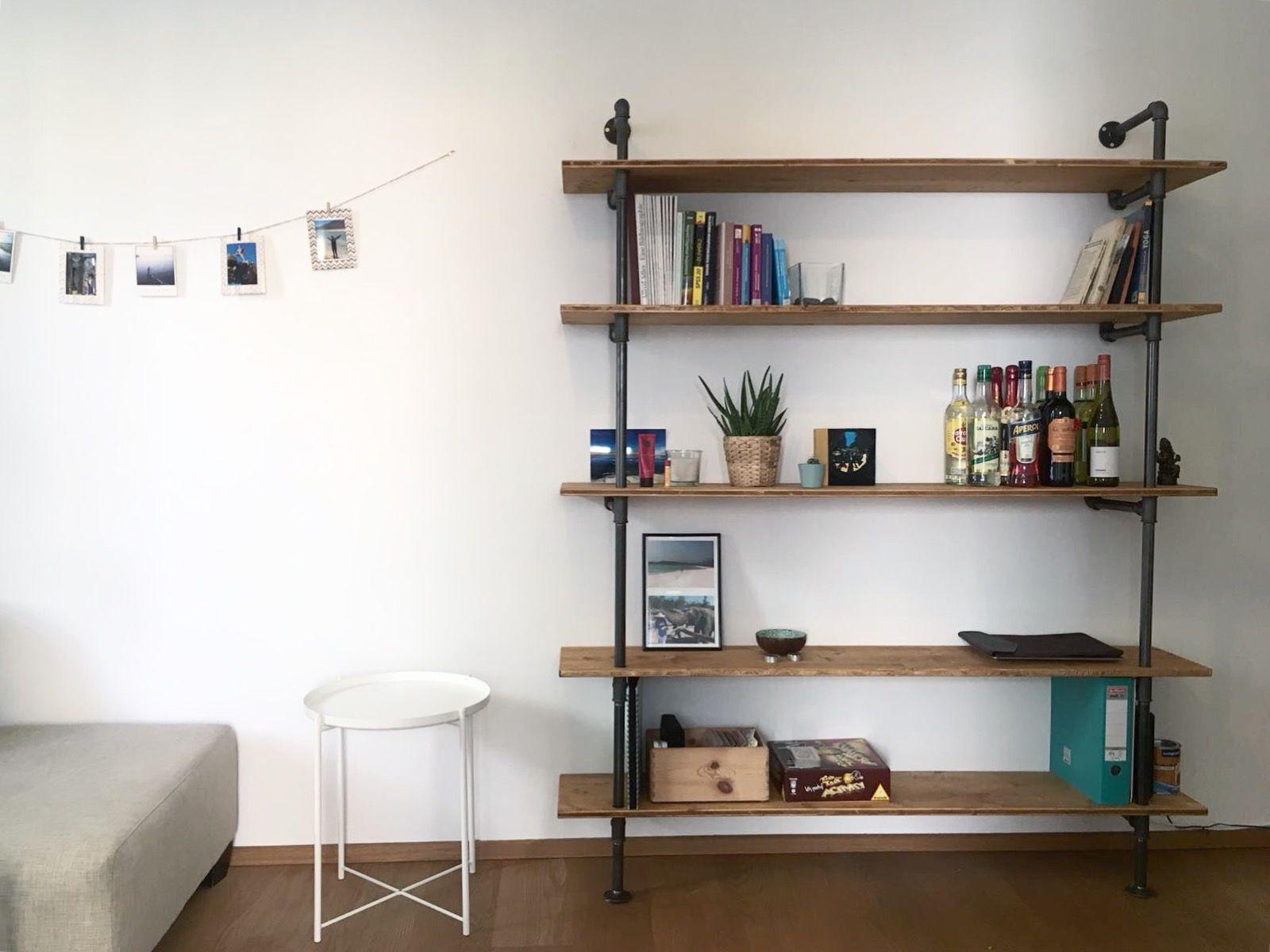 Stauwerk Wandmontiertes Regal Aus Eichenholz Haus Deko Regal Industrial Regal