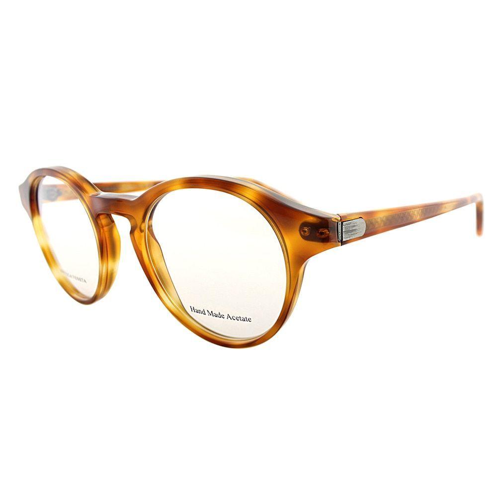 Bottega Veneta Havana Honey Round Eyeglasses