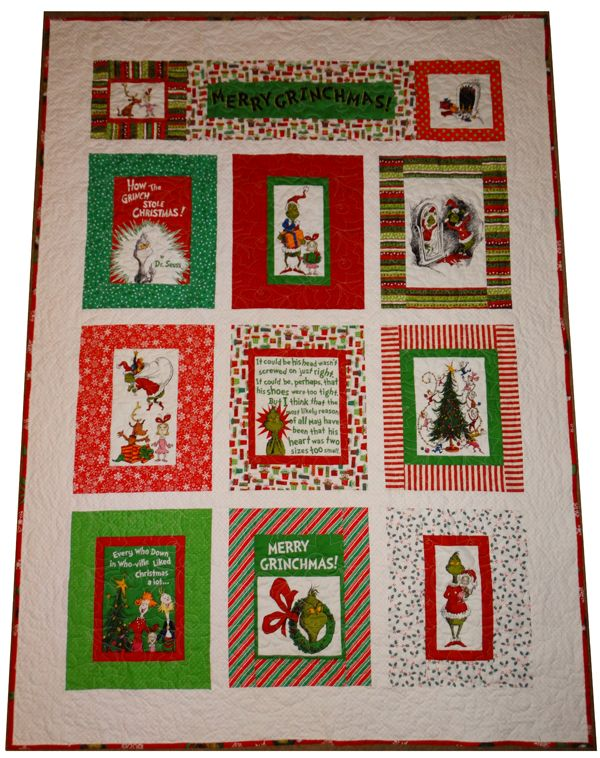 The BEST Grinch Quilt Yet!!  Must have this one!