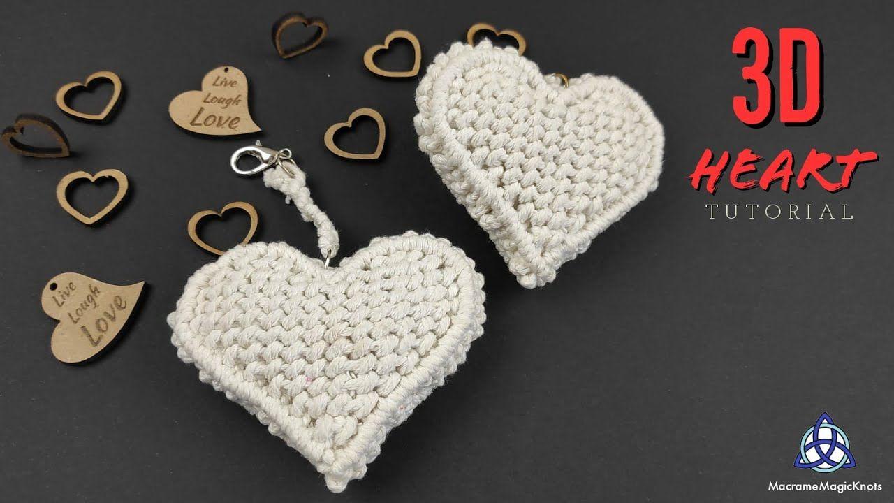 3D Macrame Heart Tutorial | LOVEly Gift Idea