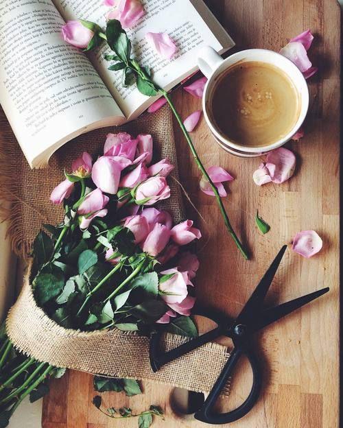 Flowers Coffee And Book Image Coffee Flower Coffee Love Spring Coffee