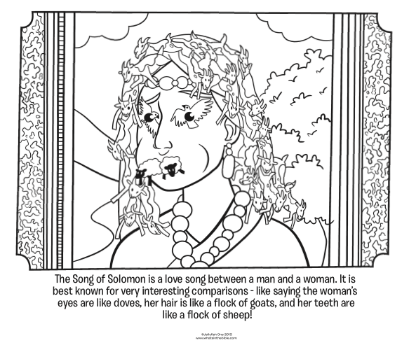 Kids coloring page from What's in the Bible? illustrating