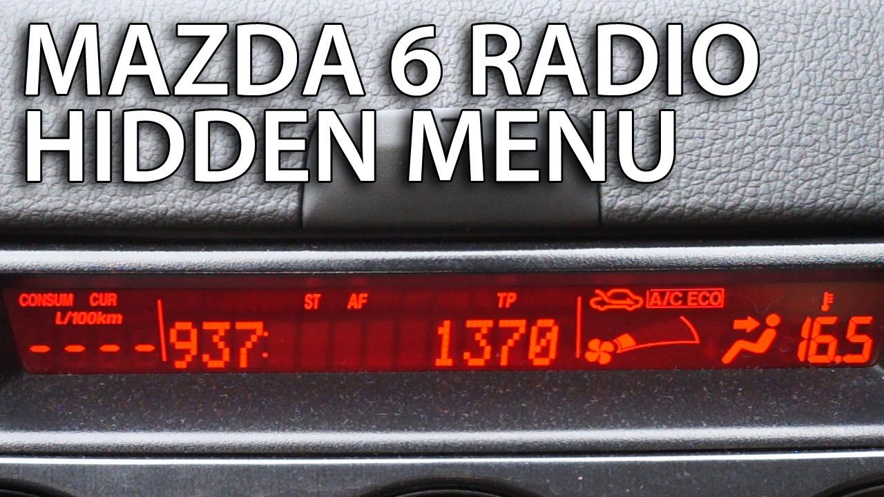 Mazda Radio hidden menu (sound system diagnostic service mode, #Bose