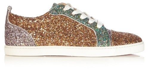 72d1f056f79 CHRISTIAN LOUBOUTIN Gondoliere low-top panelled-glitter trainers ...