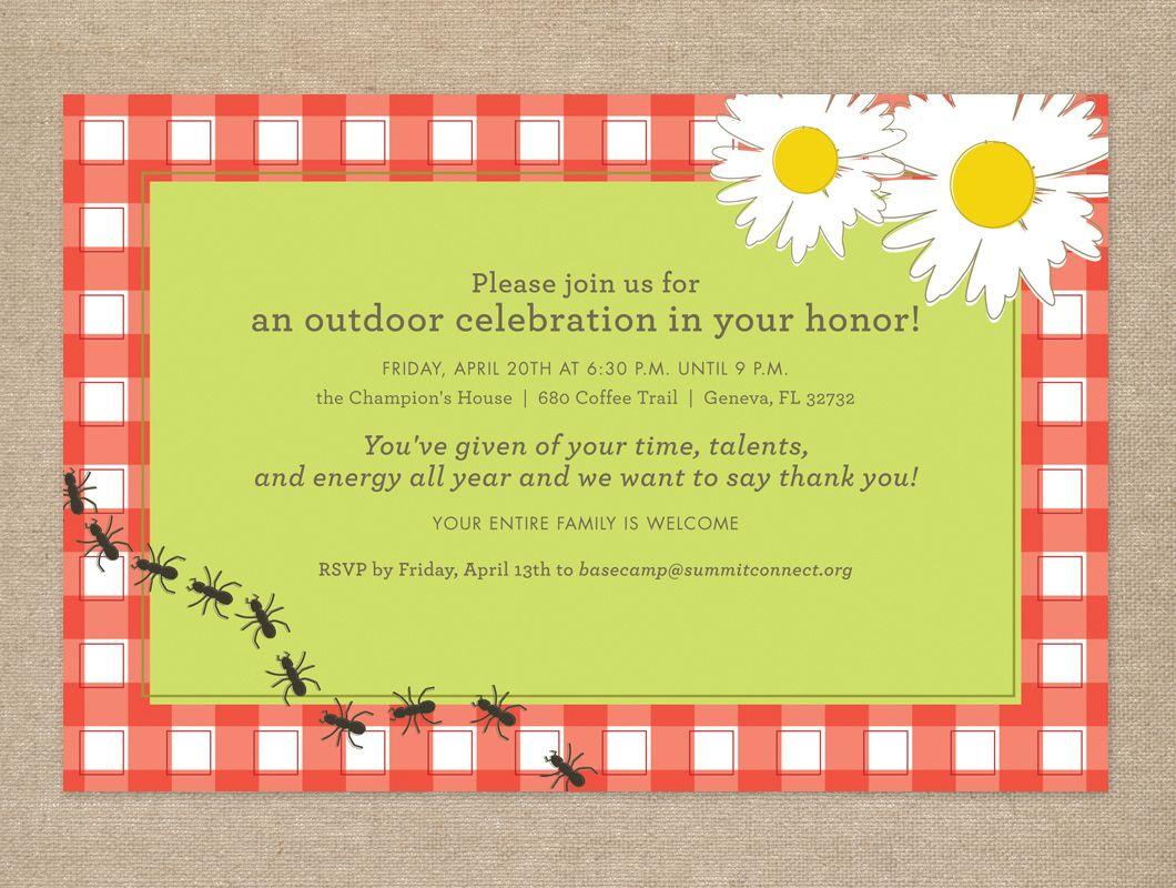 Wedding invitation idea for picnic themed wedding   Picnic Time ...