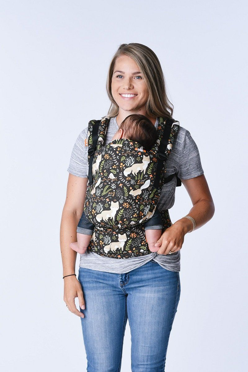 85e8bc60dd0 Baby Tula s Free-to-Grow  Fox Tail  baby carrier has a panel that adjusts  to provide an ergonomic seat for baby as they grow from early infancy to ...