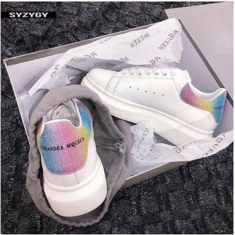 Rainbow sneakers, Alexander mcqueen