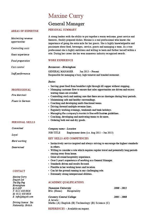 Works Manager Resume \/ Sales \/ Management - Lewesmr stuff - marketing assistant resume sample