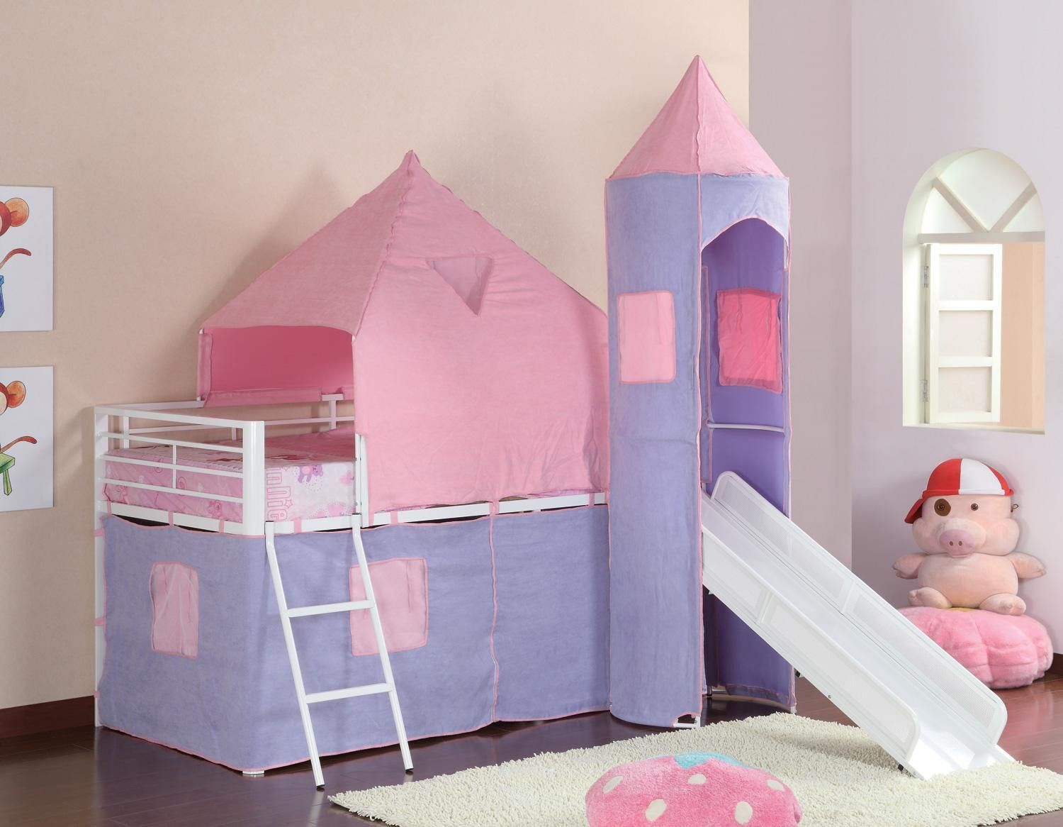 Bedroom furniture for girls castle - Coaster Furniture 460279 Girl Tent Bed