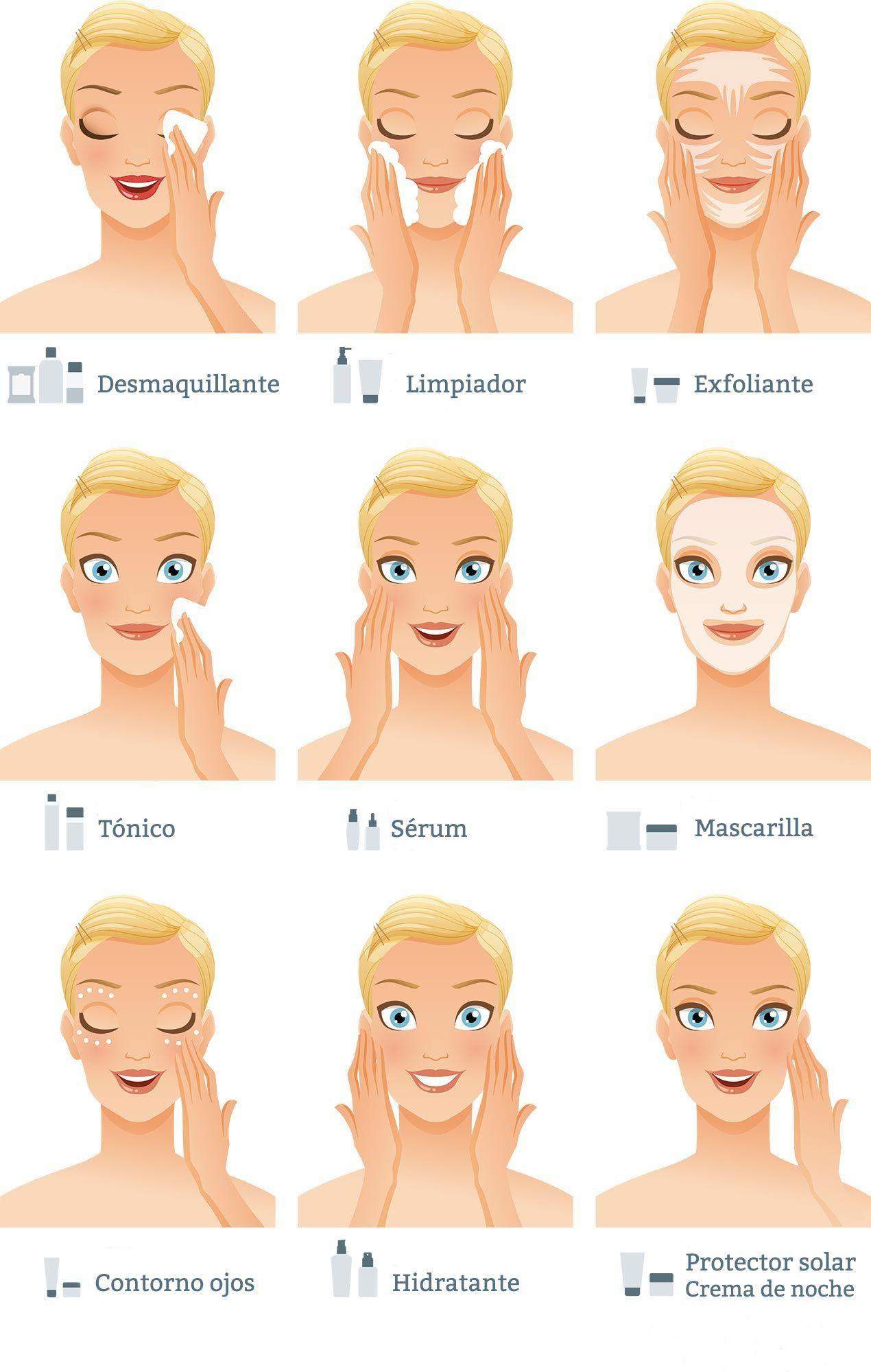 Limpieza profunda de la piel en 9 pasos