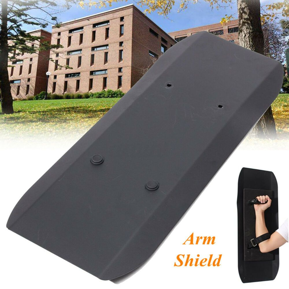 Anti-Riot Handheld Shields Self Defence Protection Security Metal Arm Type Black