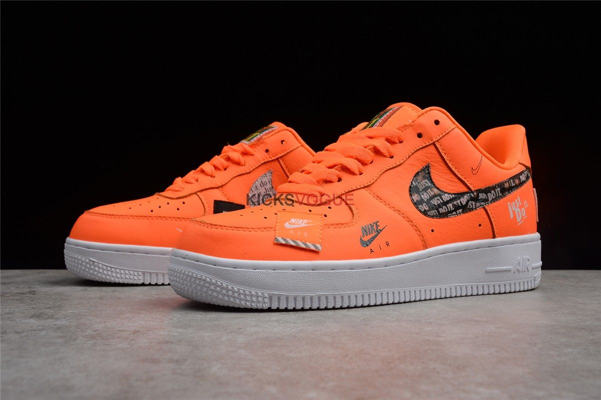 "d2bc630f79a Nike Air Force 1  07 PRM Orange ""Just Do It"" Collection"
