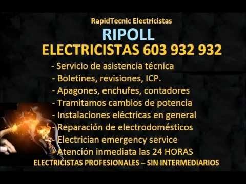 Electricistas RIPOLL 603 932 932 Baratos