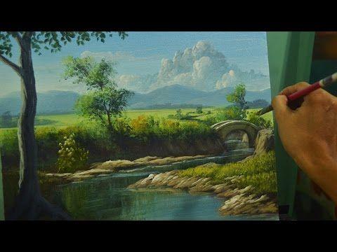 Acrylic Painting Lesson River To The Bridge By Jm Lisondra Youtube Painting Lessons Landscape Painting Tutorial Acrylic Painting Lessons