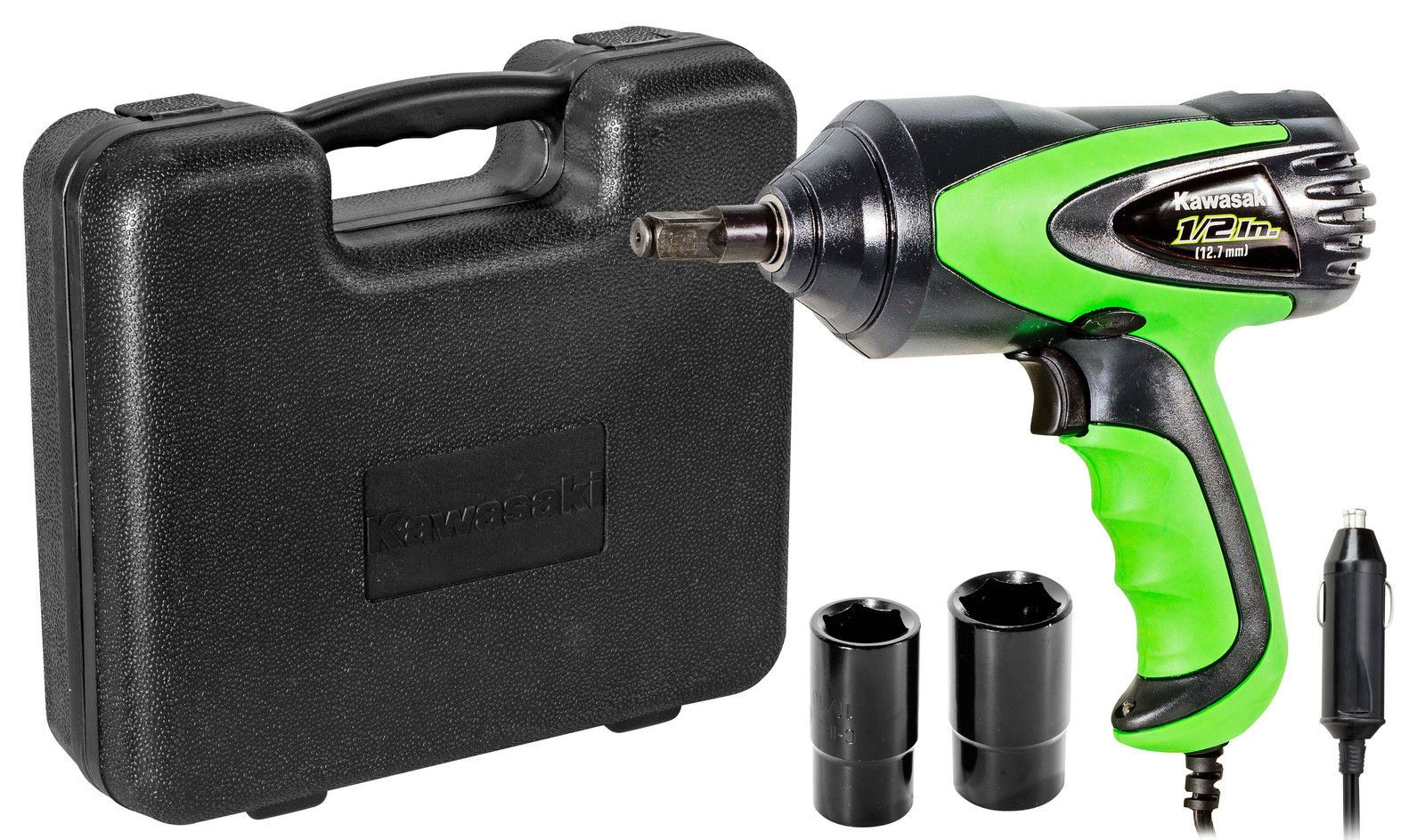 42 Off Kawasaki 12v Dc Impact Wrench Set Roadside Tire Changes 841337