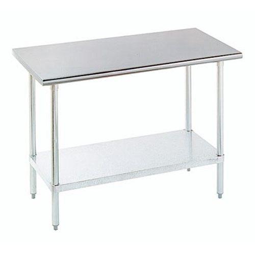 18 Gauge 24 x 60 Stainless Steel Economy Work Table with Galvanized Undershelf