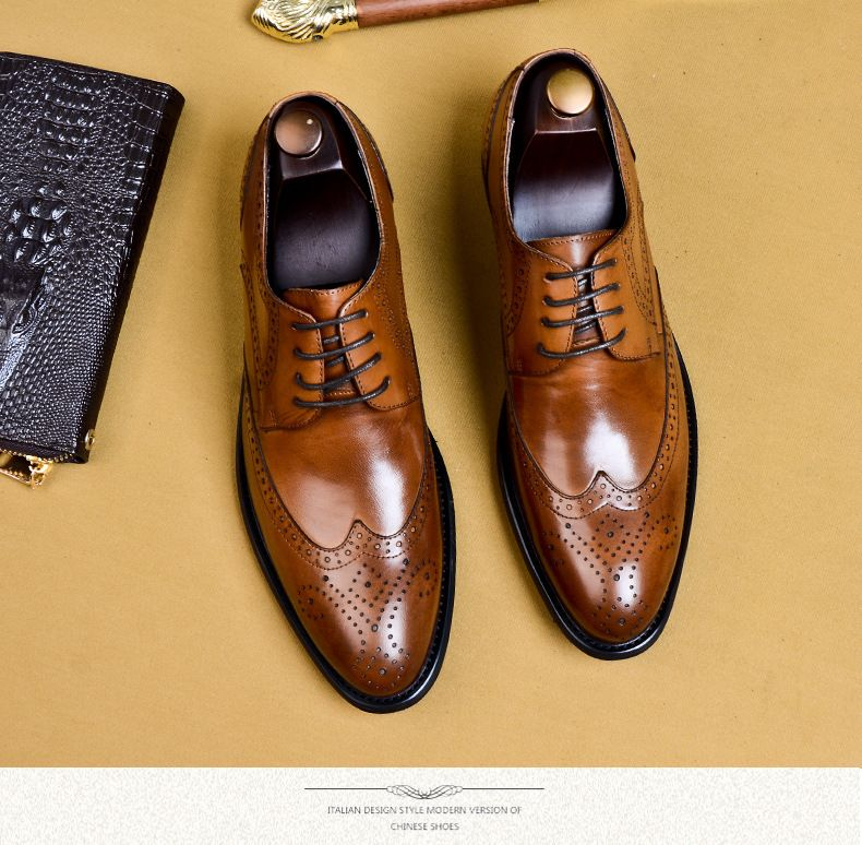 Brogues Buty Meskie Genuine Leather Oxford Shoes For Men Oxford Shoes Men Oxford Shoes Leather Oxford Shoes