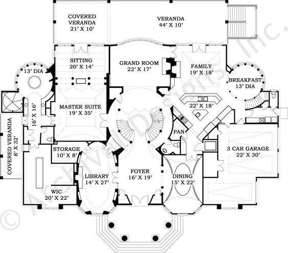 Ashburton House Plan   First Floor Plan