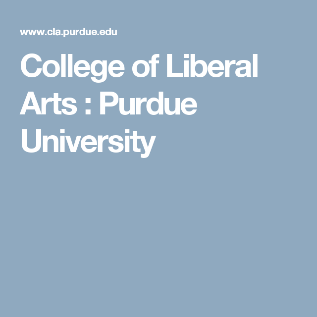 purdue college of liberal arts