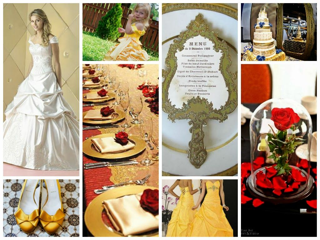 Beauty and The Beast Wedding inspiration board Classic Style