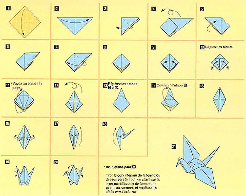 Grue En Origami Facile