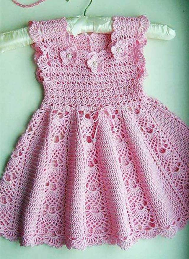 Orgu Elbise Yapilisi Diy Craft Guzel Tig Kiz Bebek Tig Krose