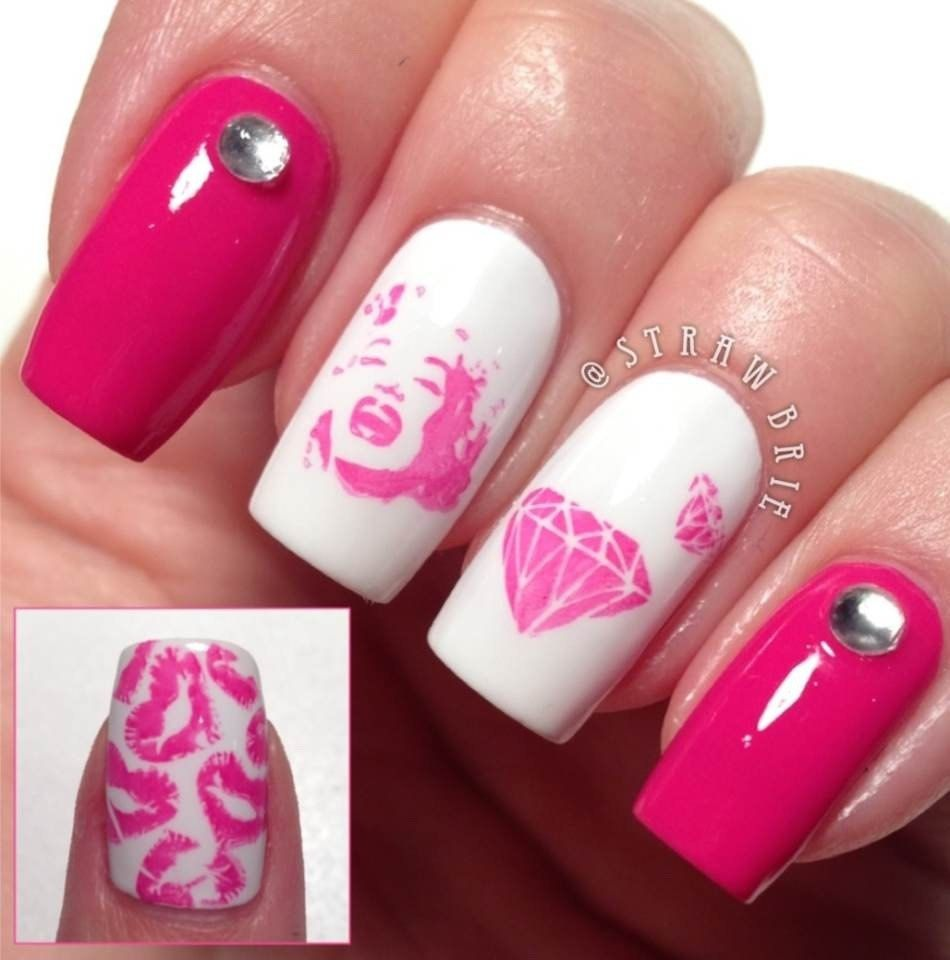 Rica GLAM01 by justricarda on Etsy, Stamping nail art. Marilyn ...