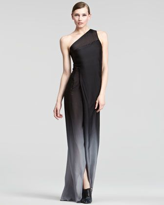Ombre One-Shoulder Gown by Donna Karan at Bergdorf Goodman $3,495