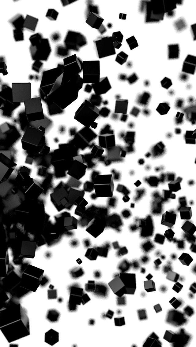 Black Cube iPhone 5s Wallpaper http//www