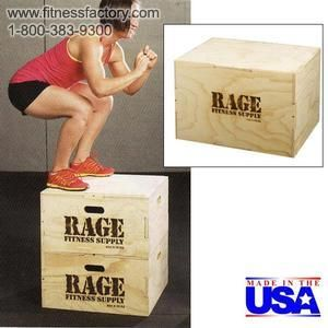 "Get the advantage of 3 plyo boxes in one! The 20"" x 24"" x 30"" cube is made with our signature puzzle design for easy assembly. No glue necessary. The ship flat design saves time and money. Made in the USA. Ships unassembled. Holes are pre-drilled and all hardware is provided for easy assembly."