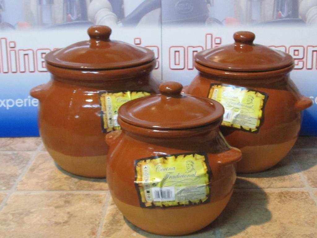 Olla barro con tapadera de 2 litros. - Onlinemenaje: Tienda virtual Tlf. 679509624 Equipación de ccocina