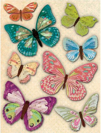 Jubilee Butterfly Grand Adhesions Scrapbooking Stickers by K&Company