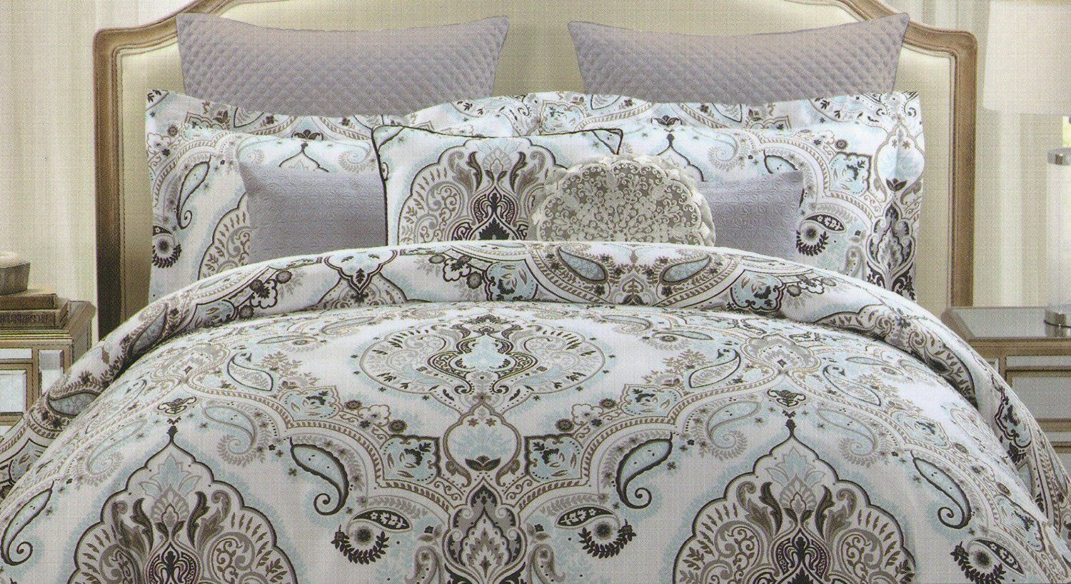 Amazon Com Tahari Full Queen Duvet Cover Set Large Floral