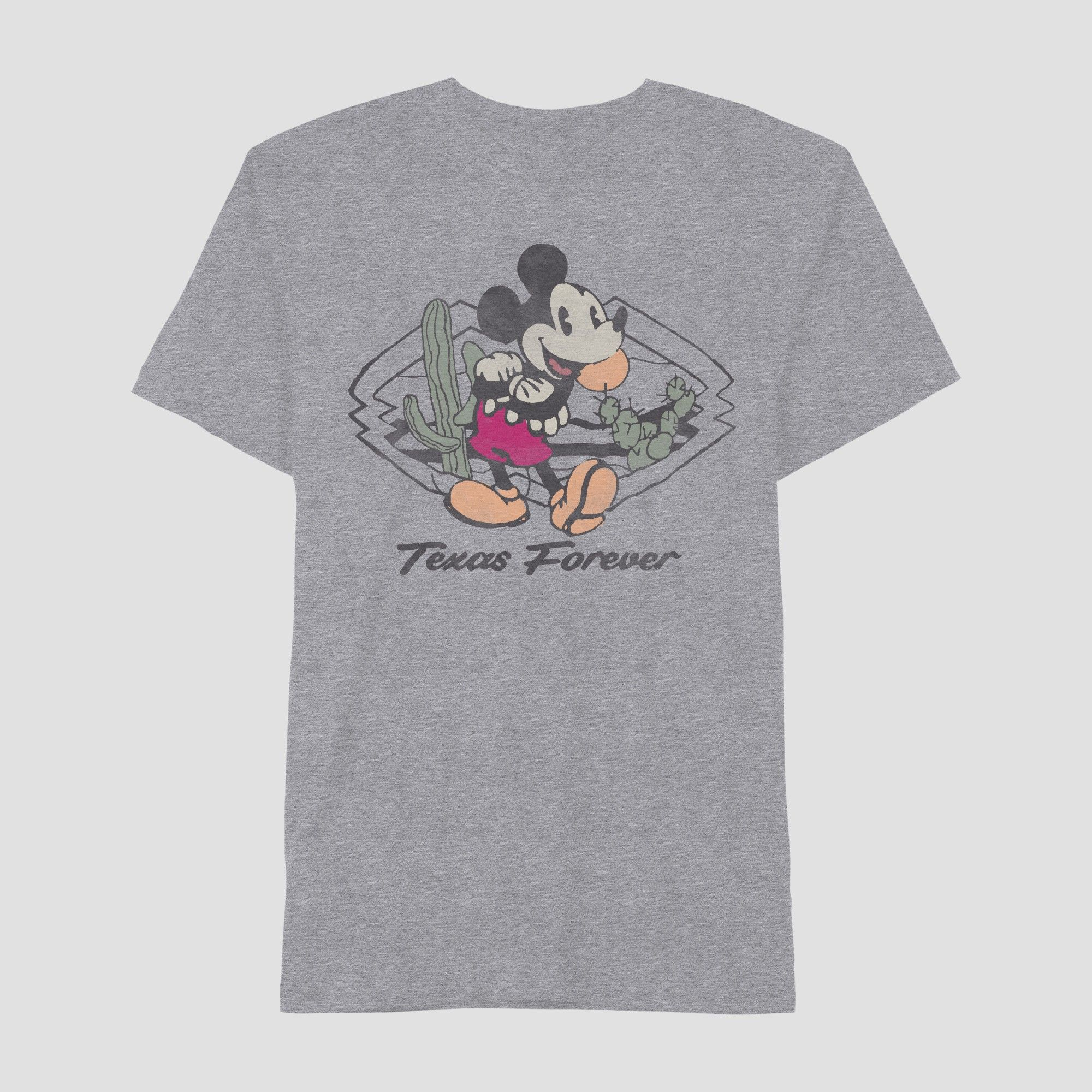 97d20e5dca Men's Mickey Mouse Short Sleeve Texas Graphic T-Shirt Heather Gray ...