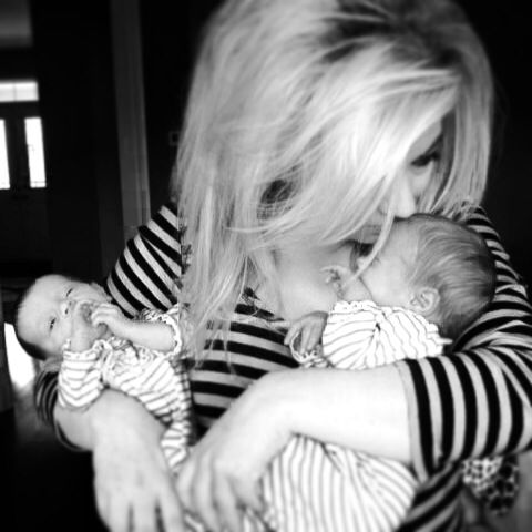 When my girls would fit in both arms #twins #doubletrouble