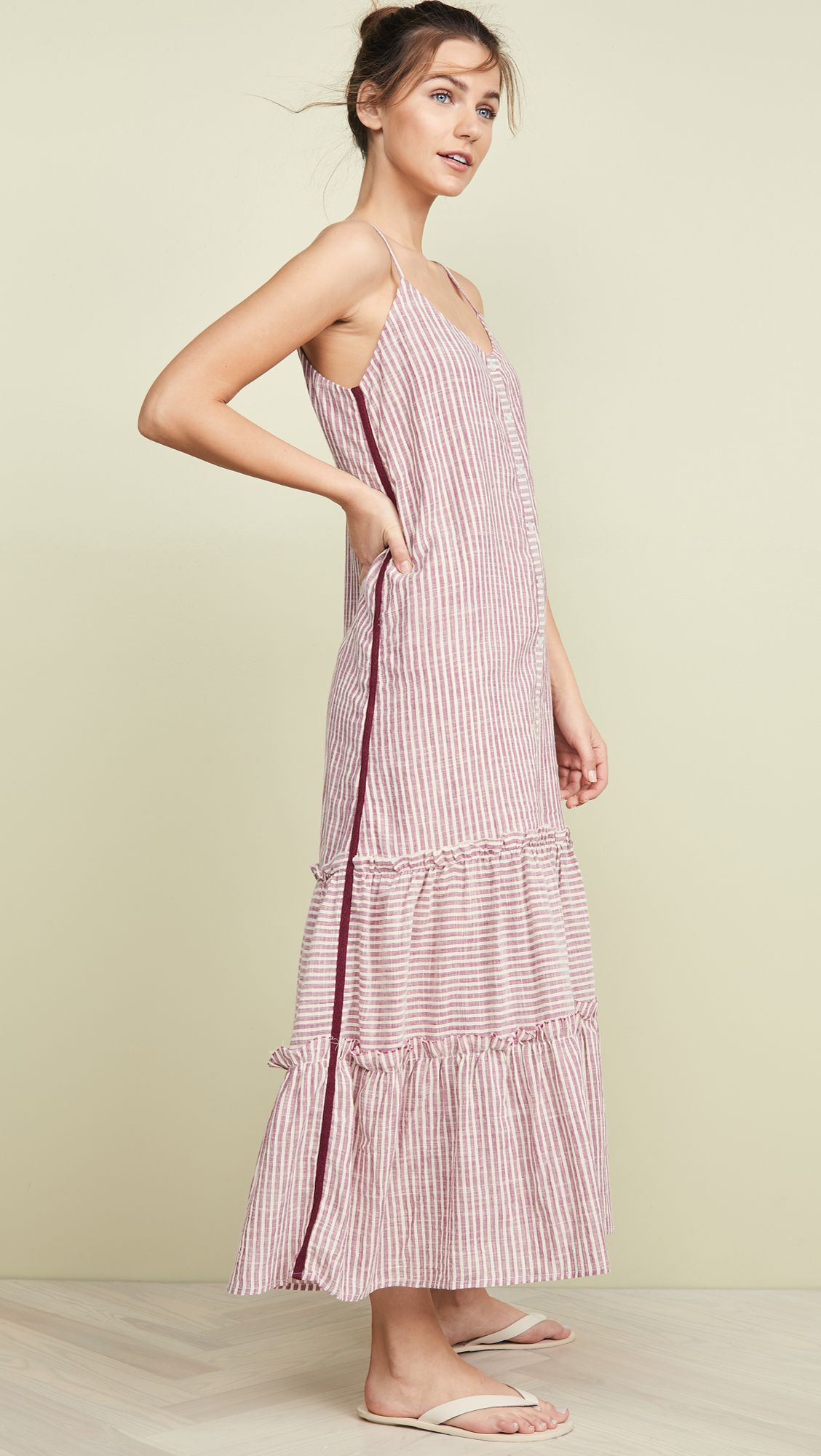 e72aefbff0f54 Ruffle Midi Dress in 2019 | Top Casual Dresses To Match Your Style ...